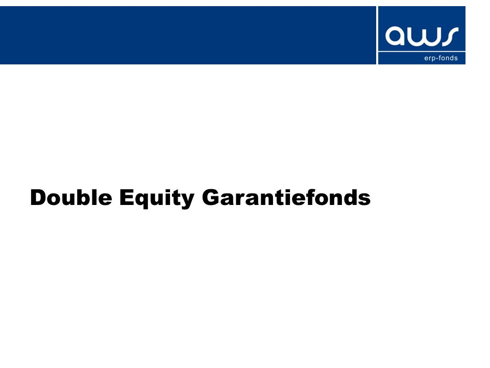 Double Equity Garantiefonds