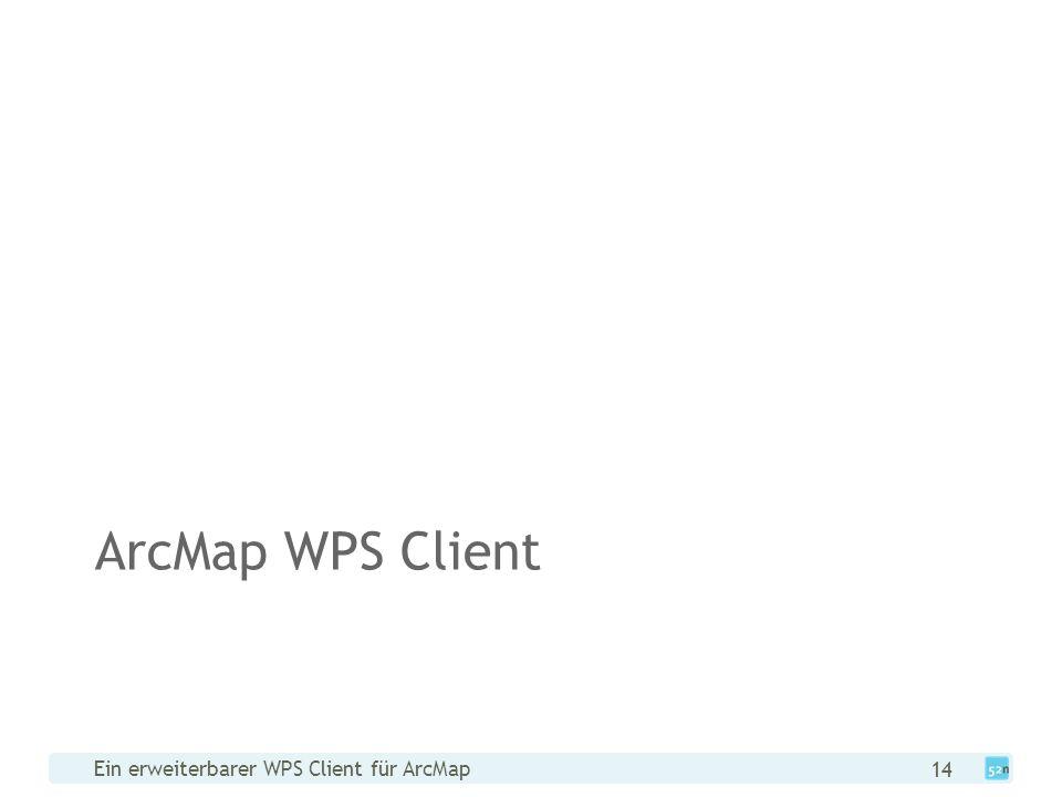 Ein erweiterbarer WPS Client für ArcMap 14 ArcMap WPS Client