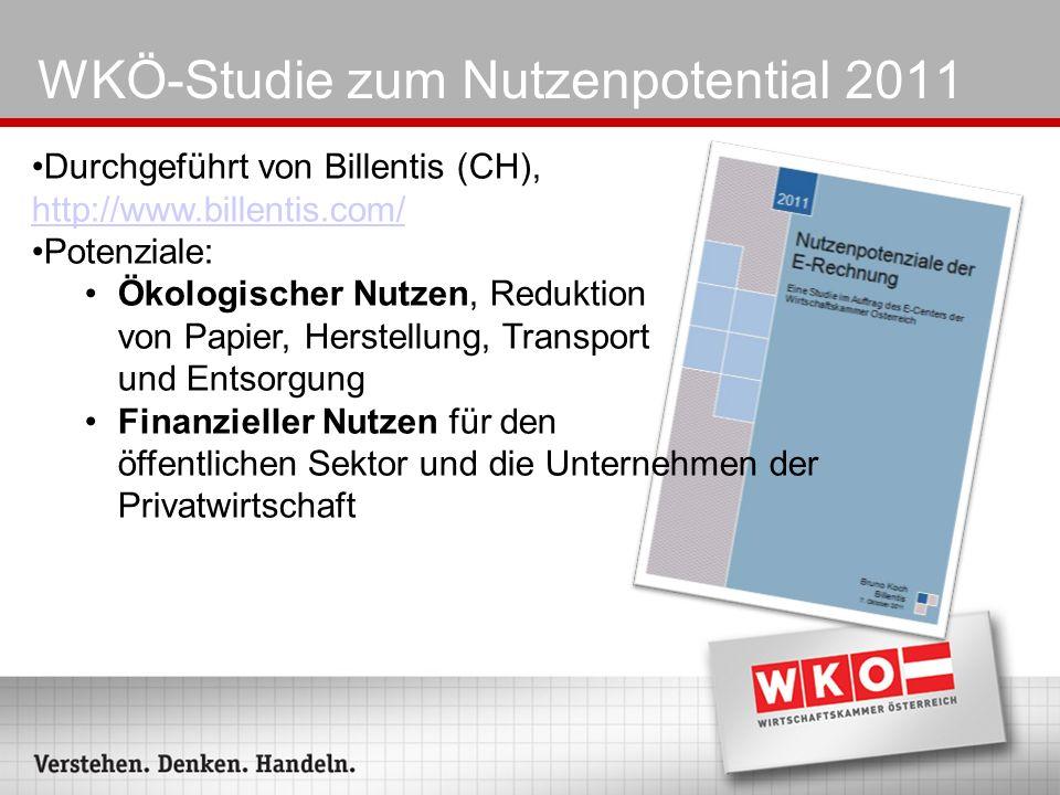 WKÖ-Studie zum Nutzenpotential 2011 Durchgeführt von Billentis (CH), http://www.billentis.com/ http://www.billentis.com/ Potenziale: Ökologischer Nutz
