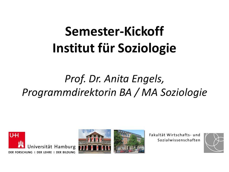 Semester-Kickoff Institut für Soziologie Prof. Dr. Anita Engels, Programmdirektorin BA / MA Soziologie