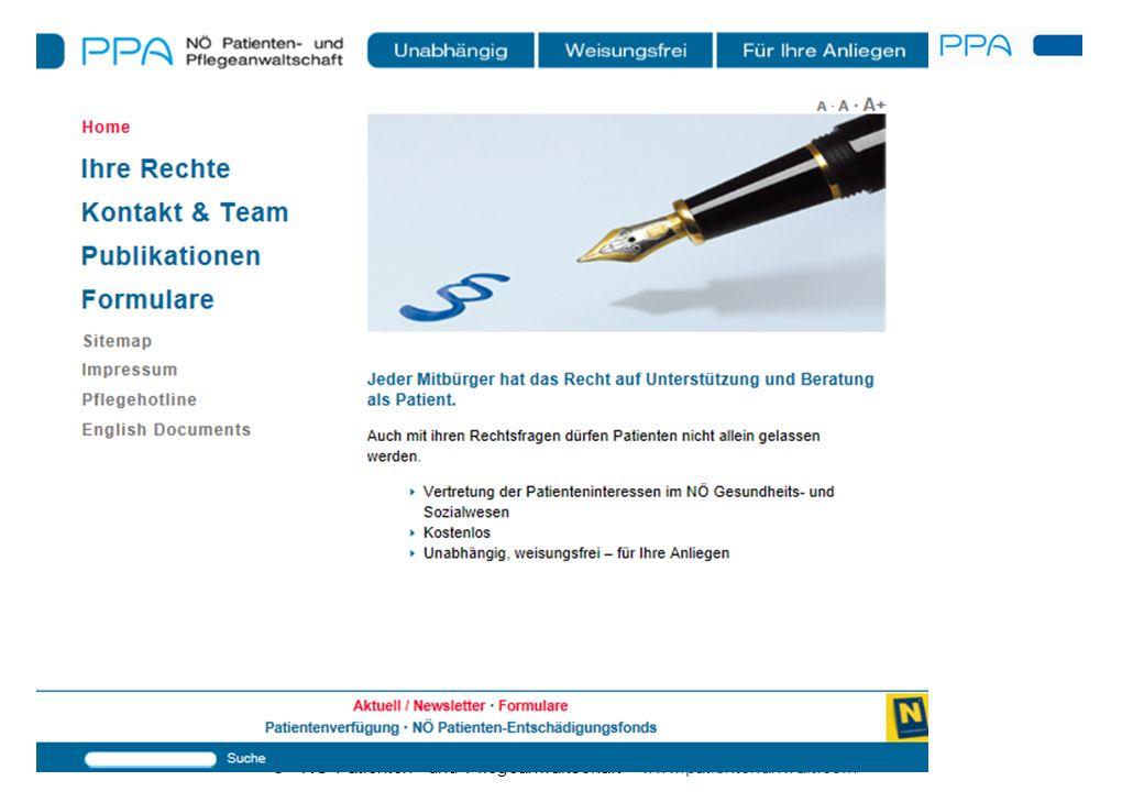 © · NÖ Patienten- und Pflegeanwaltschaft · www.patientenanwalt.com · www.patientenanwalt.com