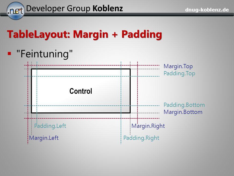 dnug-koblenz.de TableLayout: Margin + Padding