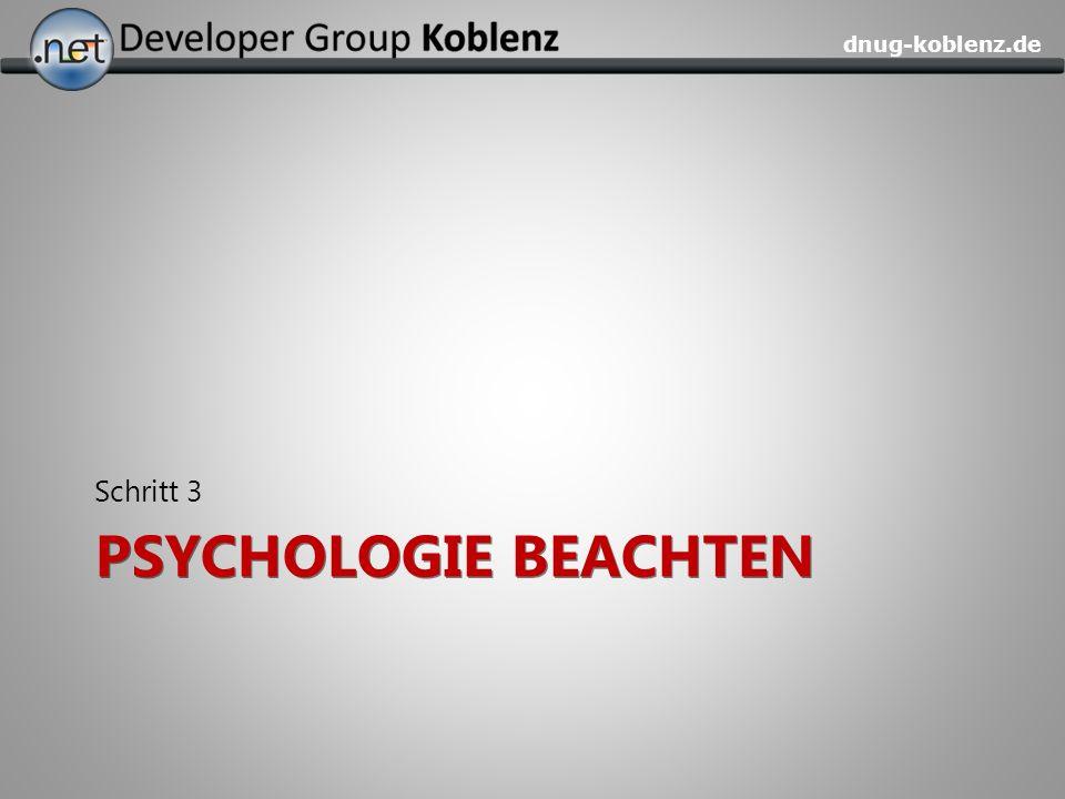 dnug-koblenz.de PSYCHOLOGIE BEACHTEN Schritt 3