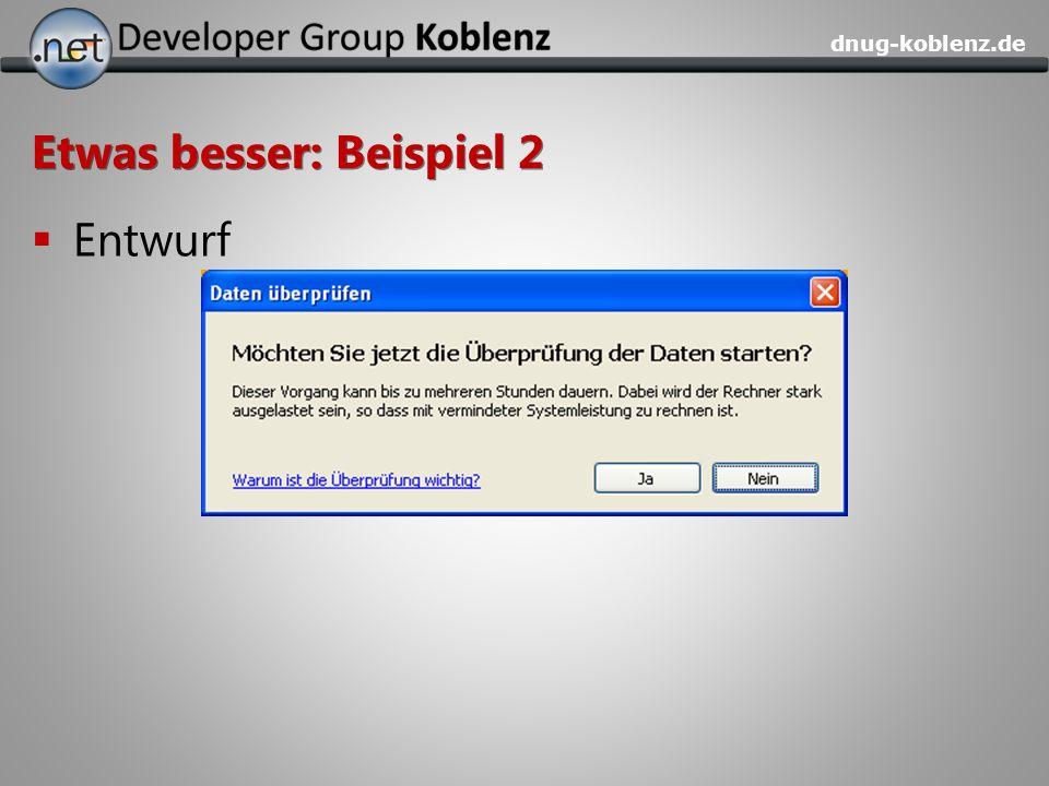dnug-koblenz.de Etwas besser: Beispiel 2 Entwurf
