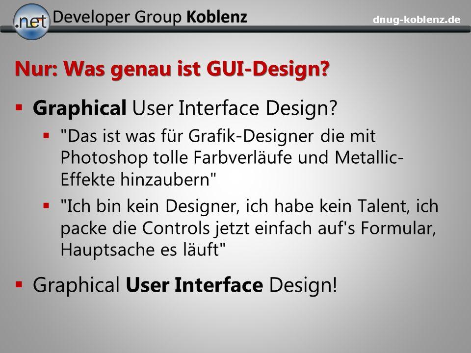 dnug-koblenz.de Nur: Was genau ist GUI-Design? Graphical User Interface Design?
