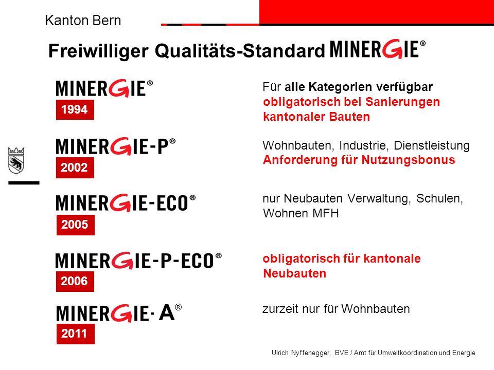 Kanton Bern Ulrich Nyffenegger, BVE / Amt für Umweltkoordination und Energie Für alle Kategorien verfügbar obligatorisch bei Sanierungen kantonaler Ba