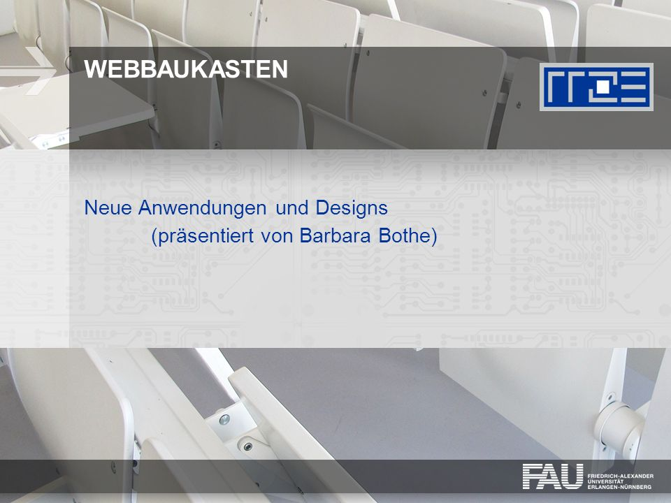 WEBBAUKASTEN Neue Anwendungen und Designs (präsentiert von Barbara Bothe)