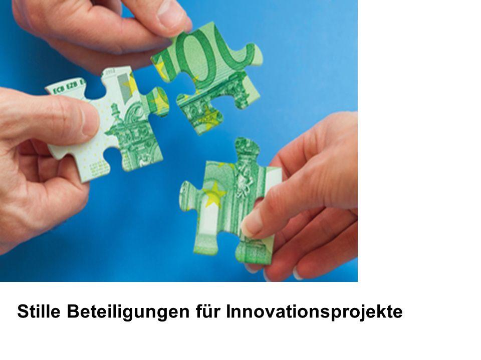 Stille Beteiligungen für Innovationsprojekte