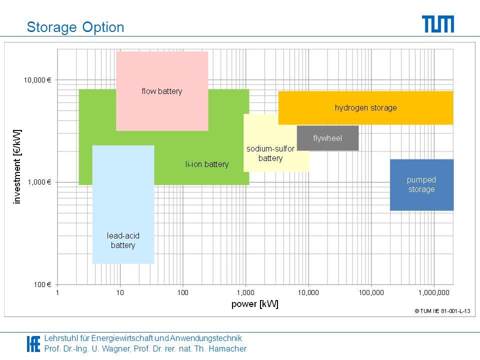 Lehrstuhl für Energiewirtschaft und Anwendungstechnik Prof. Dr.-Ing. U. Wagner, Prof. Dr. rer. nat. Th. Hamacher Storage Option