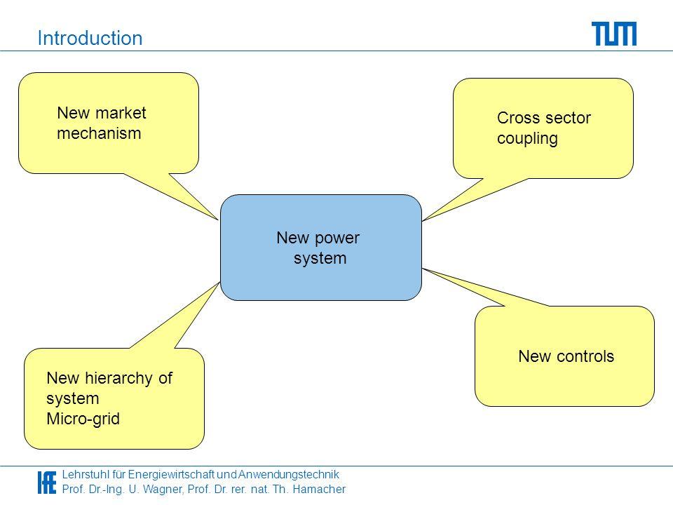 Lehrstuhl für Energiewirtschaft und Anwendungstechnik Prof. Dr.-Ing. U. Wagner, Prof. Dr. rer. nat. Th. Hamacher Introduction New power system Cross s