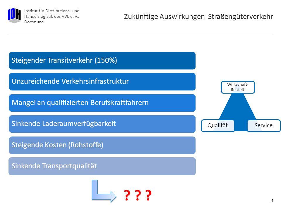 Institut für Distributions- und Handelslogistik des VVL e. V., Dortmund Prognosen zum Straßengüterverkehr 3