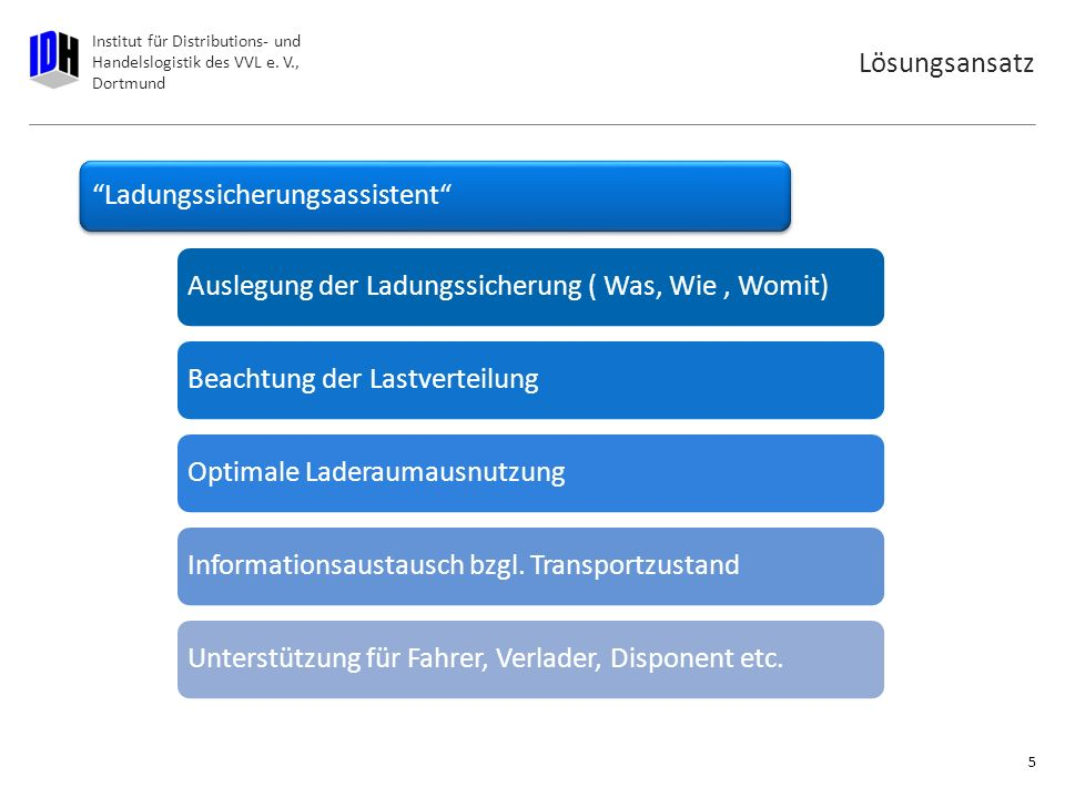 Institut für Distributions- und Handelslogistik des VVL e. V., Dortmund Zukünftige Auswirkungen Straßengüterverkehr 4 Steigender Transitverkehr (150%)