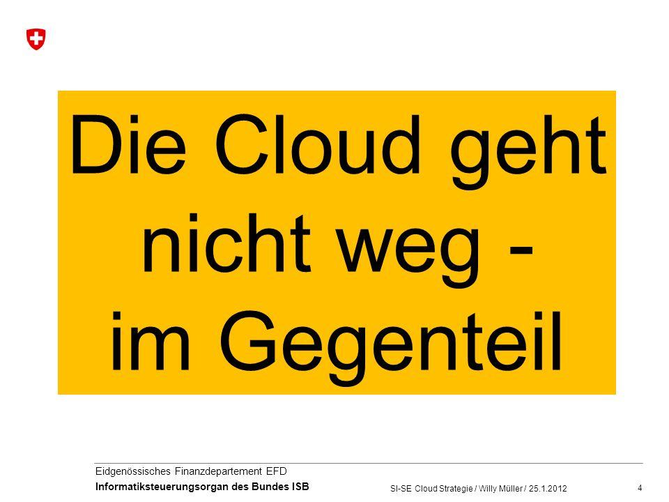 5 Eidgenössisches Finanzdepartement EFD Informatiksteuerungsorgan des Bundes ISB The Open Data Center Alliance reports that organizations it surveyed are embracing the cloud at a 15 percent faster rate than previously forecast.