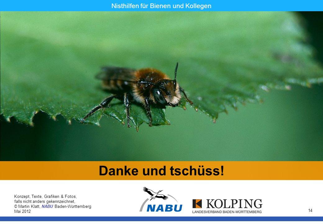 11.11.08MK14 Nisthilfen für Bienen und Kollegen Danke und tschüss! Konzept, Texte, Grafiken & Fotos, falls nicht anders gekennzeichnet, © Martin Klatt