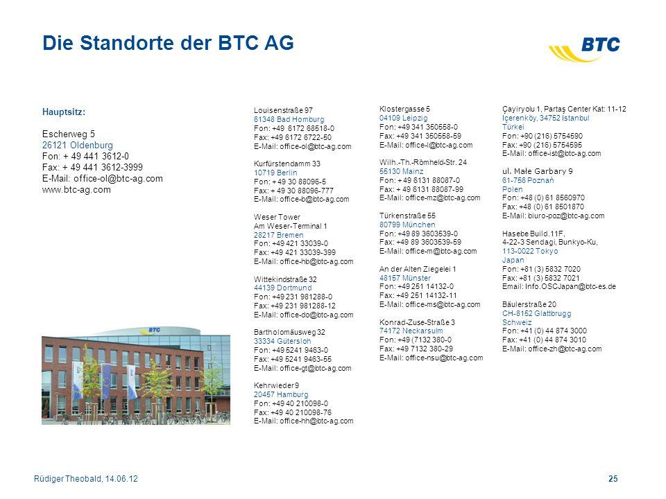 Hauptsitz: Escherweg 5 26121 Oldenburg Fon: + 49 441 3612-0 Fax: + 49 441 3612-3999 E-Mail: office-ol@btc-ag.com www.btc-ag.com Louisenstraße 97 61348