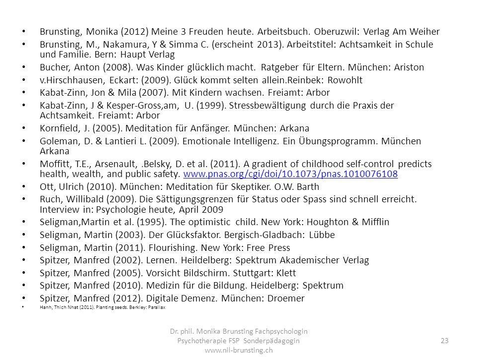 Brunsting, Monika (2012) Meine 3 Freuden heute.Arbeitsbuch.