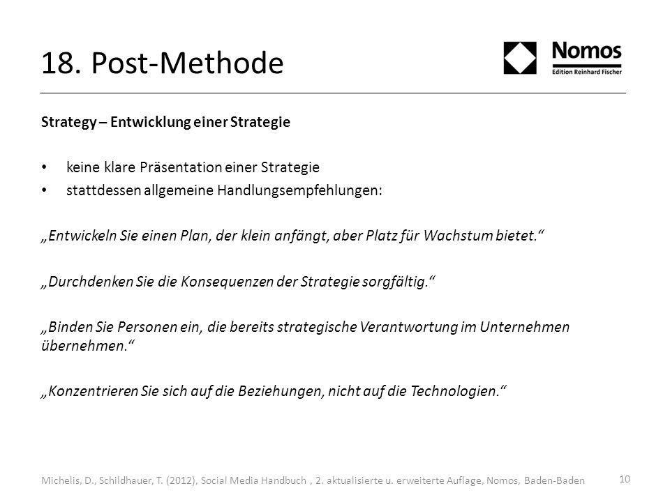10 Strategy – Entwicklung einer Strategie keine klare Präsentation einer Strategie stattdessen allgemeine Handlungsempfehlungen: Entwickeln Sie einen