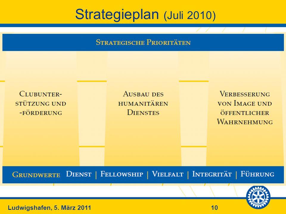 10Ludwigshafen, 5. März 2011 Strategieplan (Juli 2010)