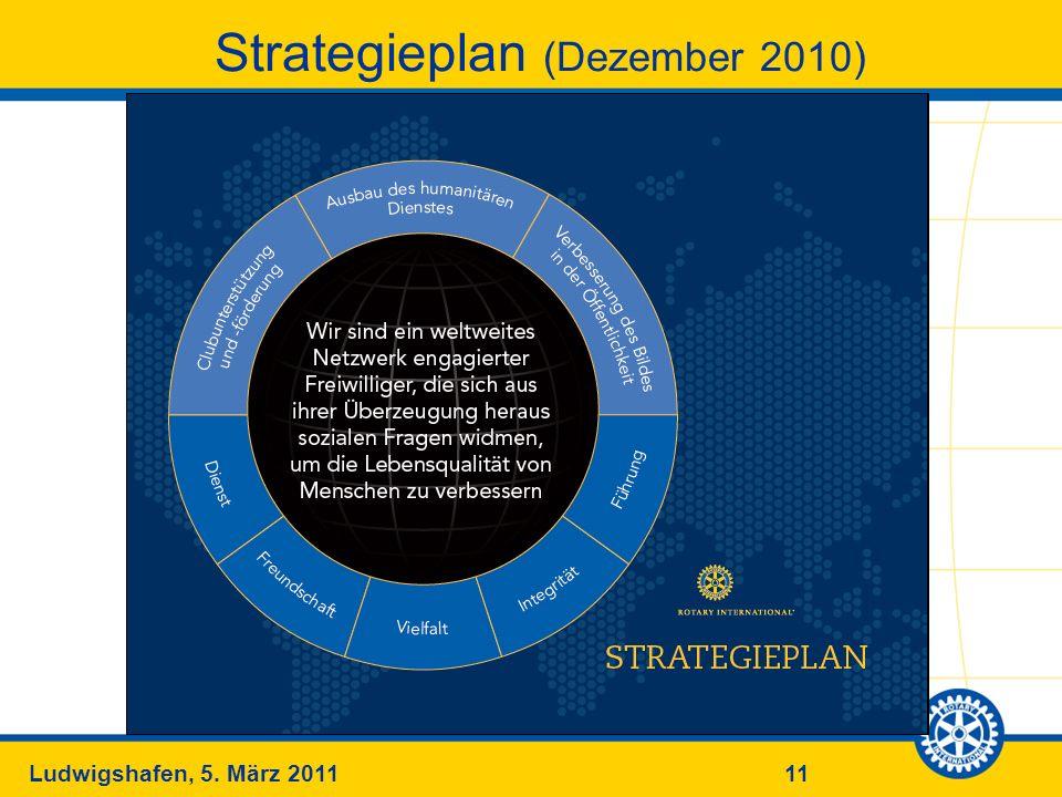 11Ludwigshafen, 5. März 2011 Strategieplan (Dezember 2010)