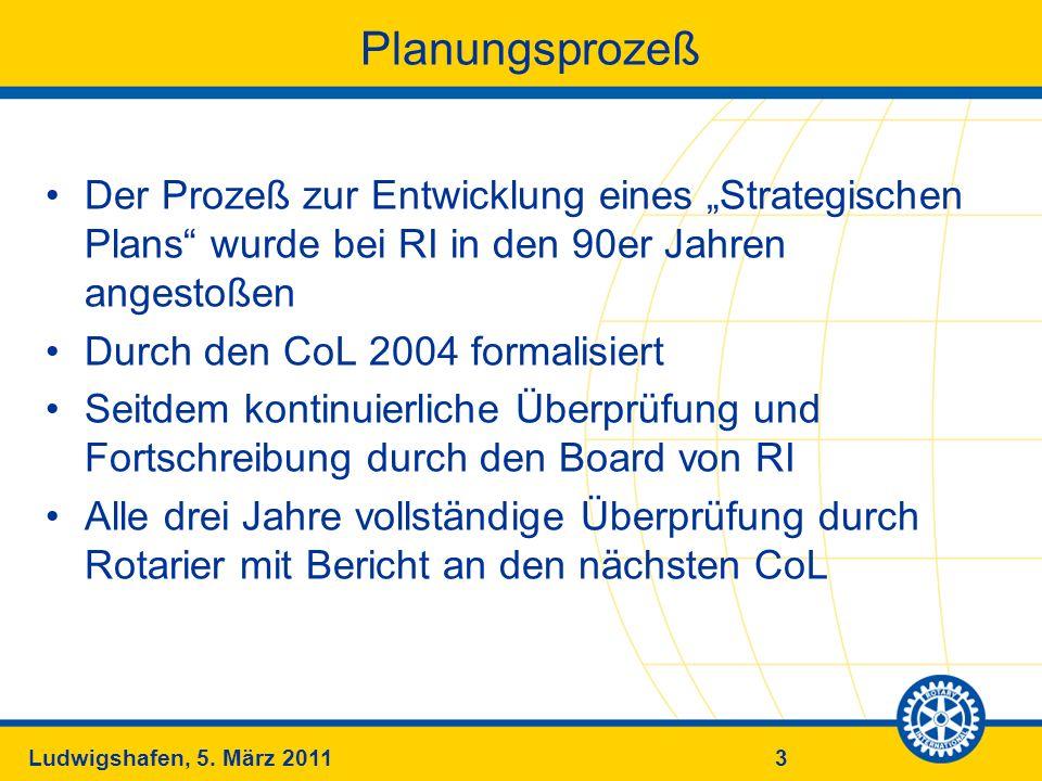 3Ludwigshafen, 5. März 2011 Planungsprozeß Der Prozeß zur Entwicklung eines Strategischen Plans wurde bei RI in den 90er Jahren angestoßen Durch den C