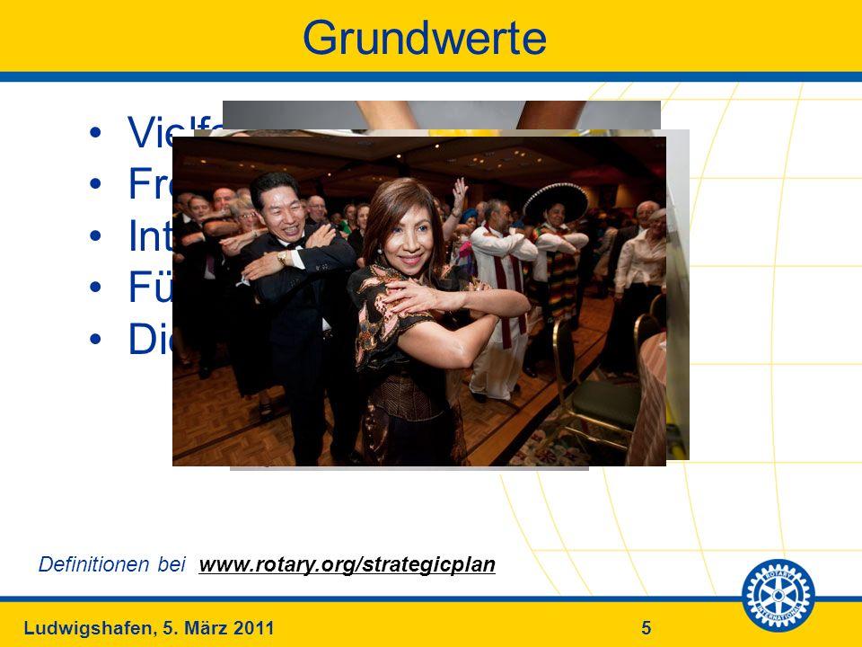 5Ludwigshafen, 5. März 2011 Vielfalt (Diversity) Freundschaft (Fellowship) Integrität (Integrity) Führung (Leadership) Dienst (Service) Grundwerte Def