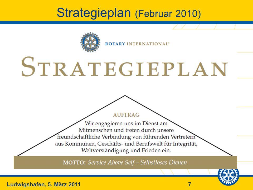 7Ludwigshafen, 5. März 2011 Strategieplan (Februar 2010)