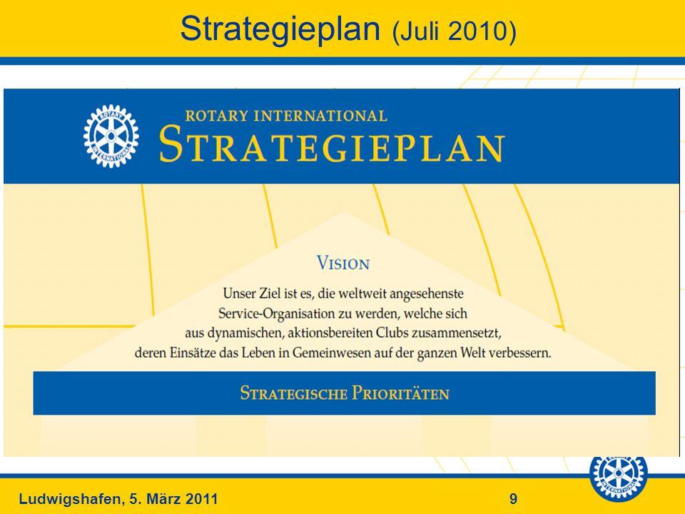 9Ludwigshafen, 5. März 2011 Strategieplan (Juli 2010)