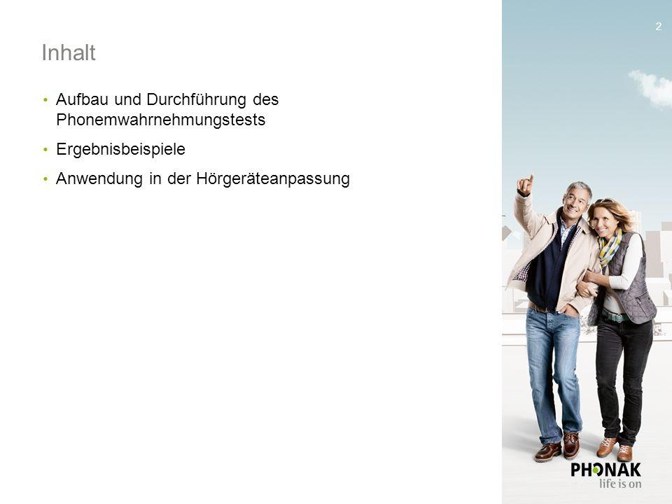 1 Phonemverständlichkeit als Indikator für versorgte Hörfähigkeit Nicola Schmitt, Michael Boretzki Verband Hörakustik Schweiz Weiterbildungsseminar 20