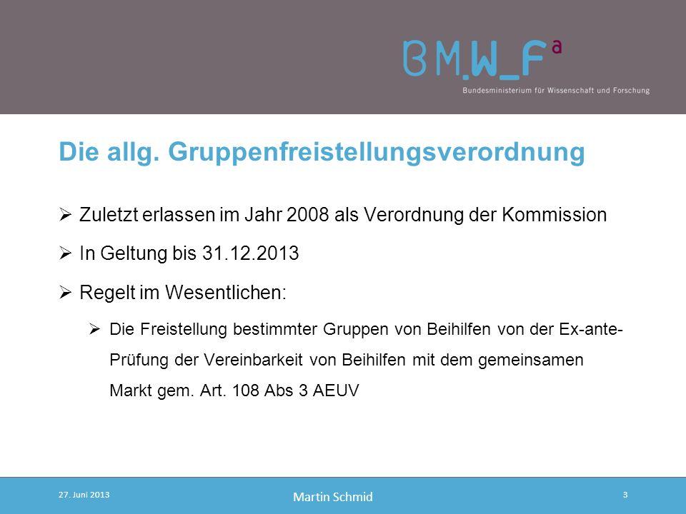 Martin Schmid Sekundärrecht und Rechtsakte der Kommission Verfahrensverordnung VO des Rates 659/1999 Ermächtigungsverordnung VO des Rates 994/1998 All