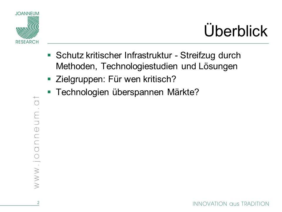 33 Zur Diskussion Was ist für wen kritisch.Technologien überspannen Märkte.