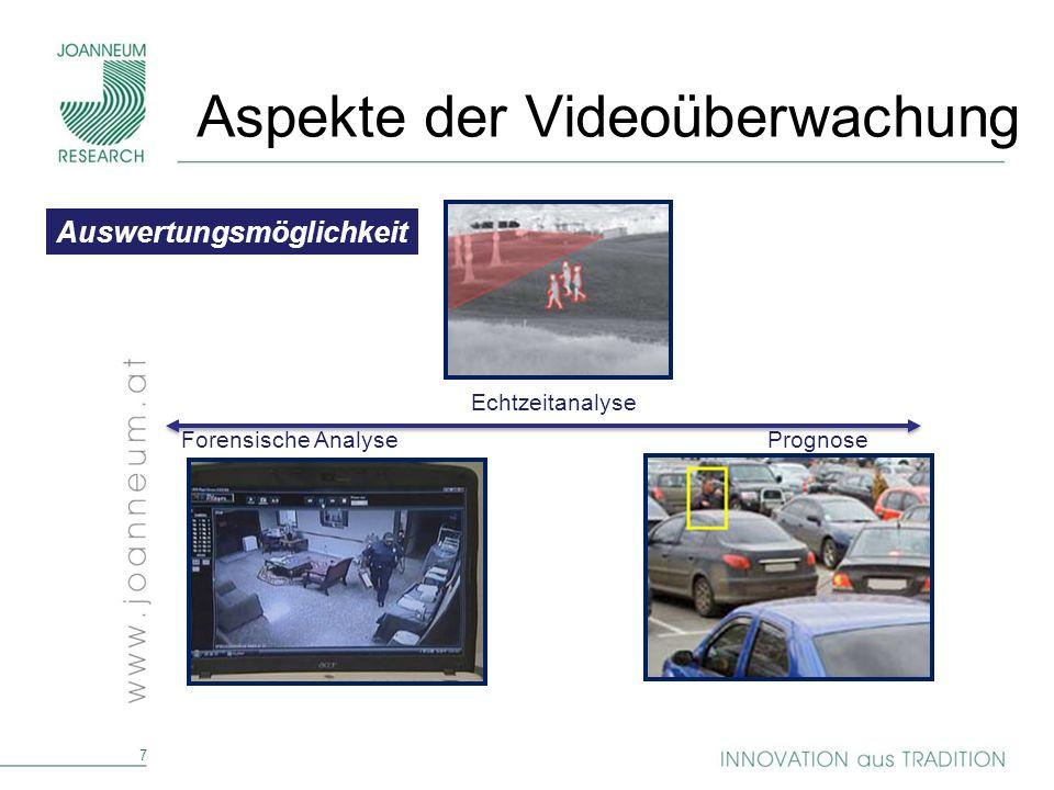8 Einsatzbereich konkret/fokussiert allgemein/unbestimmt Aspekte der Videoüberwachung