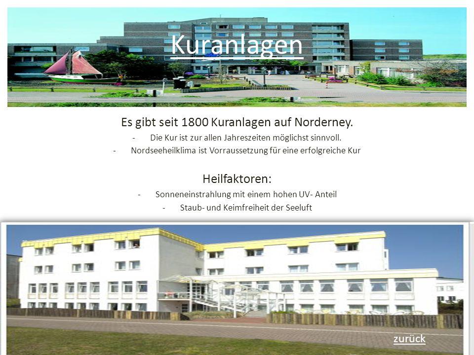 Kuranlagen Es gibt seit 1800 Kuranlagen auf Norderney.
