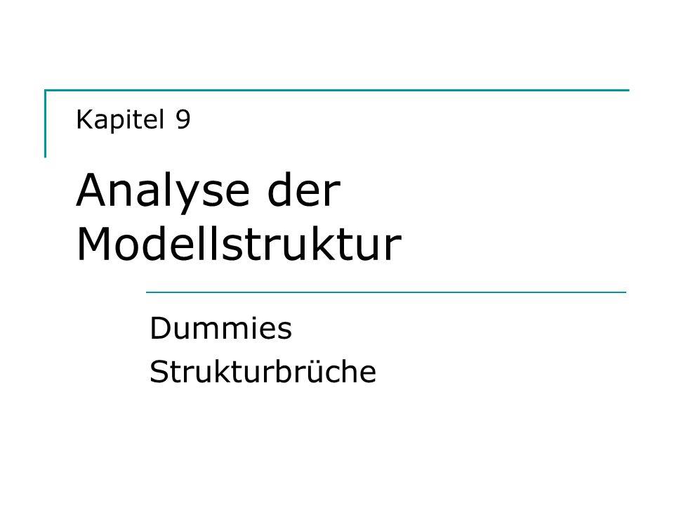 Kapitel 9 Analyse der Modellstruktur Dummies Strukturbrüche