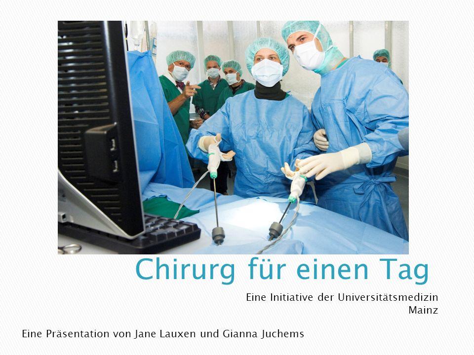 Eine Initiative der Universitätsmedizin Mainz Eine Präsentation von Jane Lauxen und Gianna Juchems