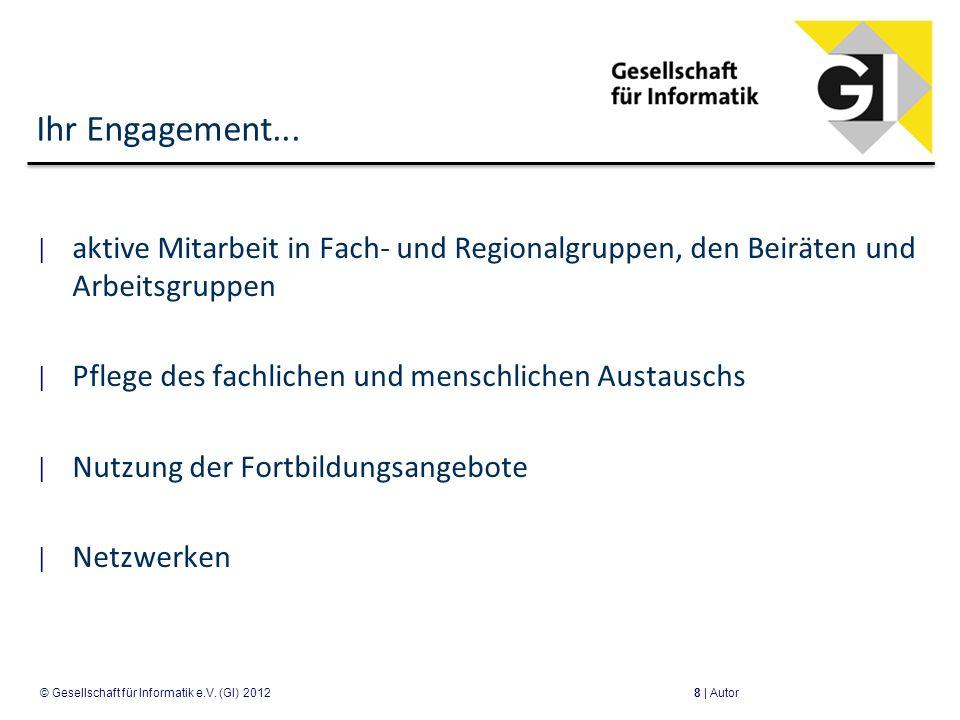 Ihr Engagement... aktive Mitarbeit in Fach- und Regionalgruppen, den Beiräten und Arbeitsgruppen Pflege des fachlichen und menschlichen Austauschs Nut