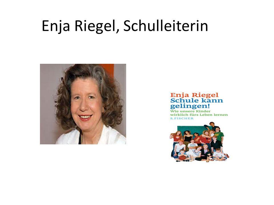Enja Riegel, Schulleiterin