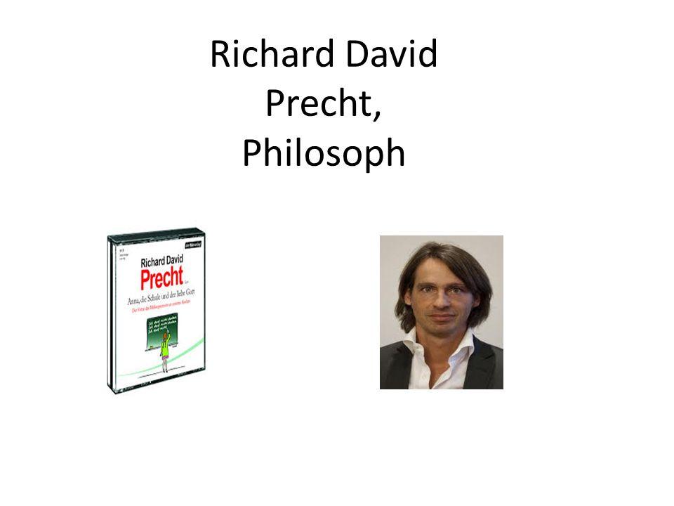 Richard David Precht, Philosoph