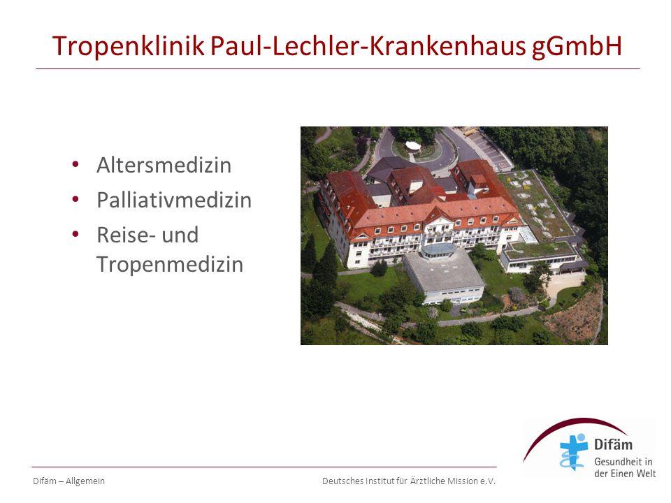Deutsches Institut für Ärztliche Mission e.V. Öffentlichkeitsarbeit Difäm – Allgemein