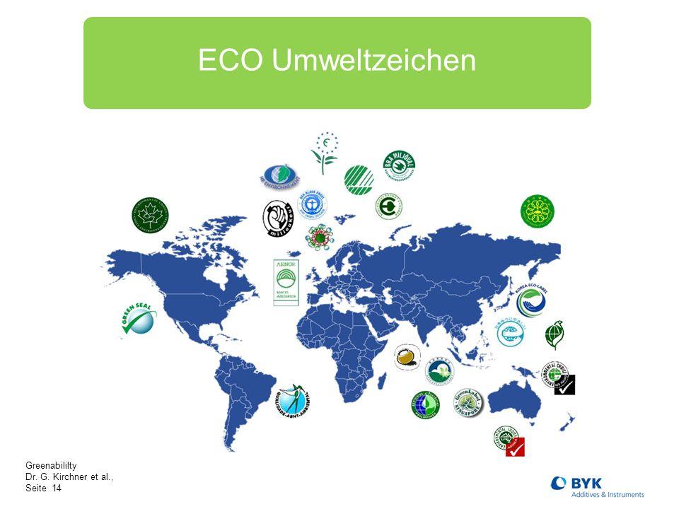 Greenabililty Dr. G. Kirchner et al., Seite 14 ECO Umweltzeichen