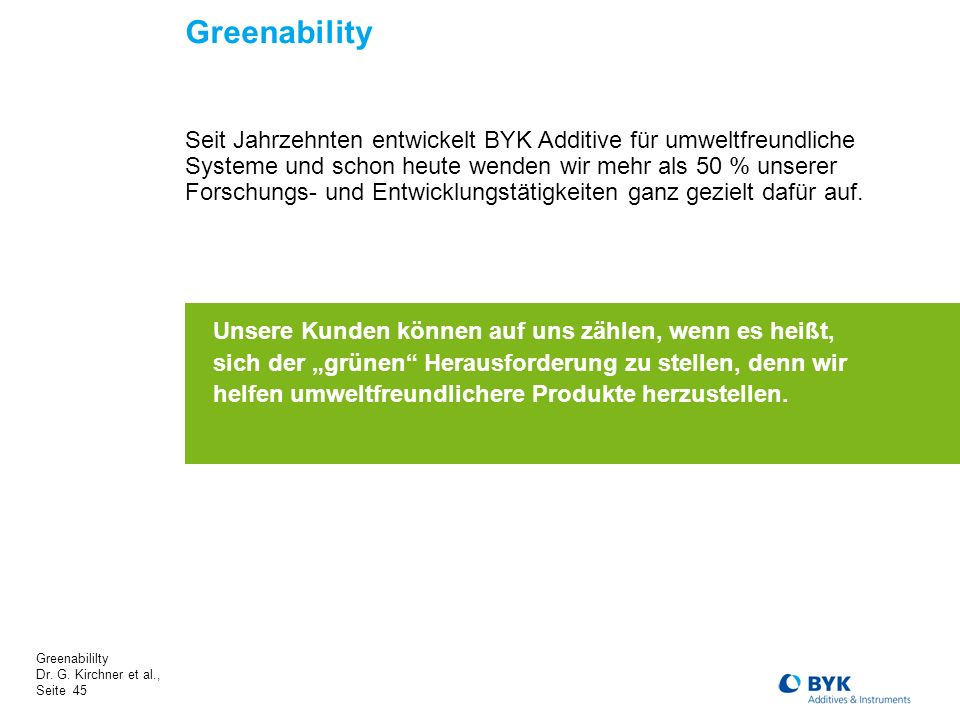 Greenabililty Dr.G.