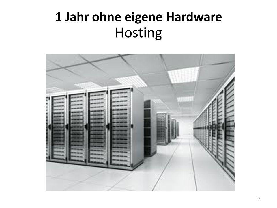 1 Jahr ohne eigene Hardware Hosting 12