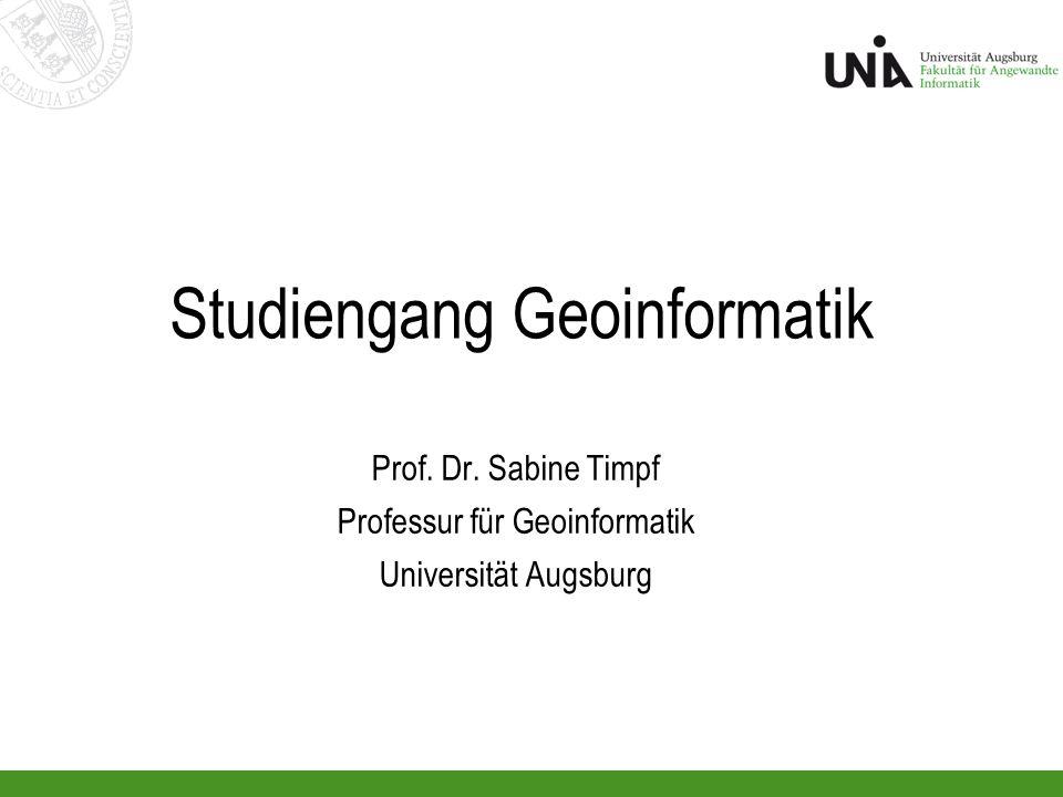 2 BSc.GI@UniA verankert an der Fakultät für Angewandte Informatik (FAI) FAI besteht aus 2 Instituten: Institut für Geographie und Institut für Informatik (einmalig in D!) Studium wird von beiden Instituten gemeinsam angeboten, d.h.
