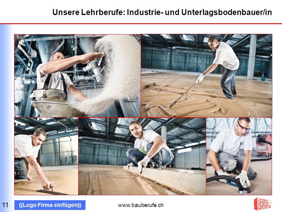 www.bauberufe.ch ((Logo Firma einfügen)) Unsere Lehrberufe: Pflästerer/in 12