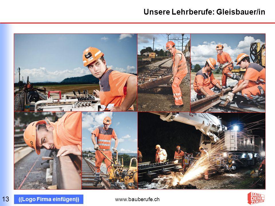 www.bauberufe.ch ((Logo Firma einfügen)) Wir sind stolz auf unserer Arbeit 14 Bild: Bauwerk Firma