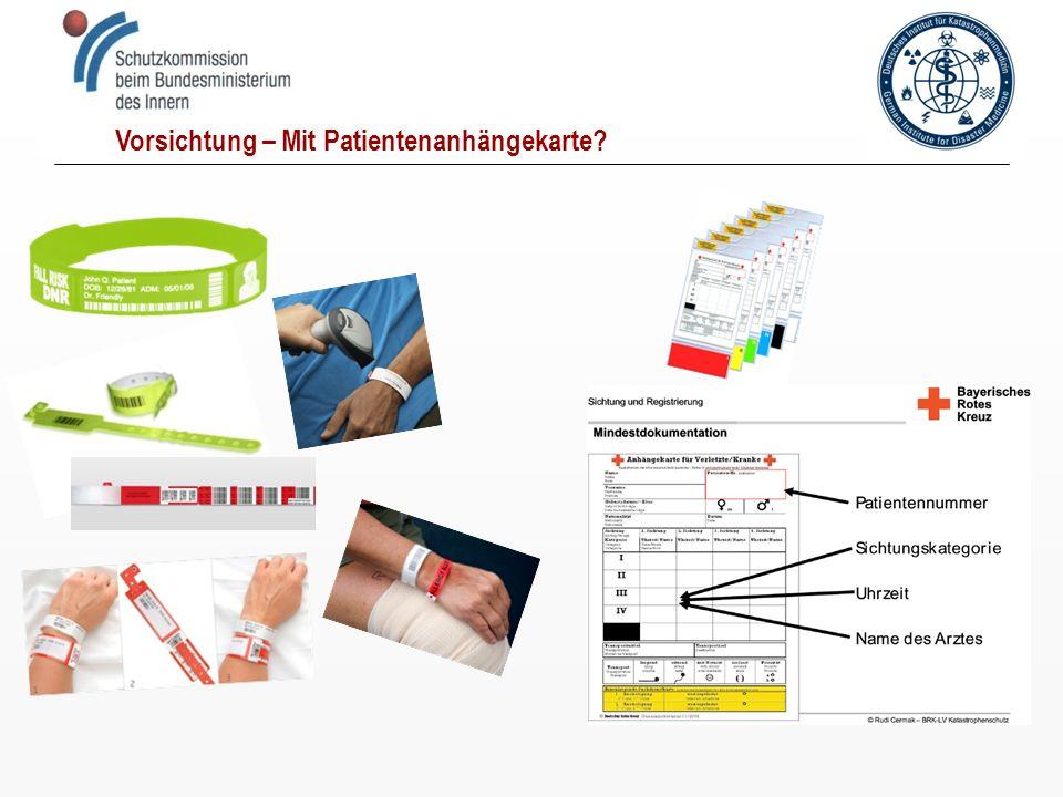 Vorsichtung – Mit Patientenanhängekarte?