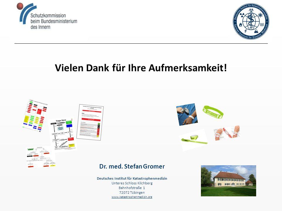 Vielen Dank für Ihre Aufmerksamkeit! Deutsches Institut für Katastrophenmedizin Unteres Schloss Kilchberg Bahnhofstraße 1 72072 Tübingen www.katastrop