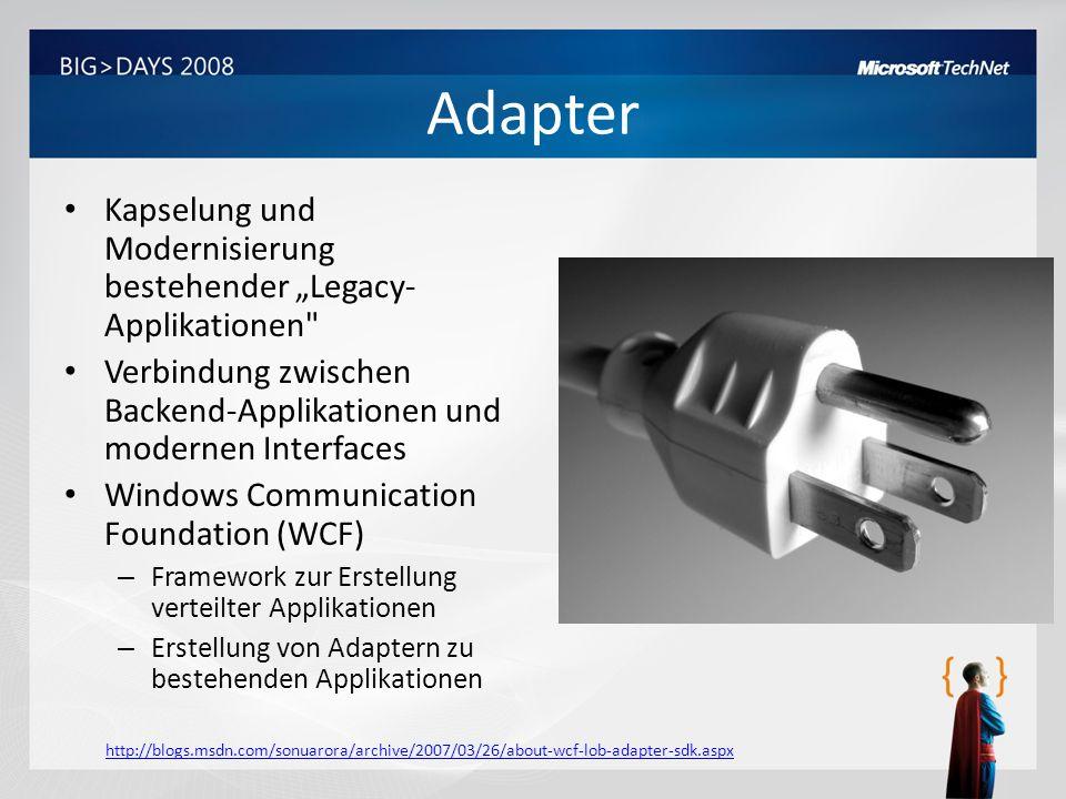 Adapter Kapselung und Modernisierung bestehender Legacy- Applikationen
