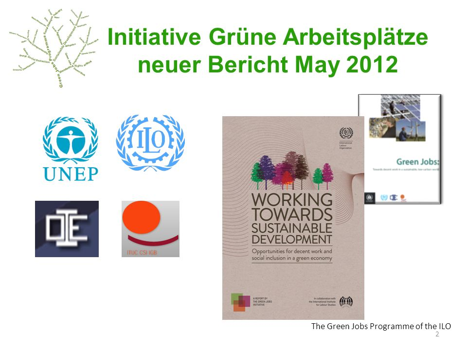 The Green Jobs Programme of the ILO Initiative Grüne Arbeitsplätze neuer Bericht May 2012 2