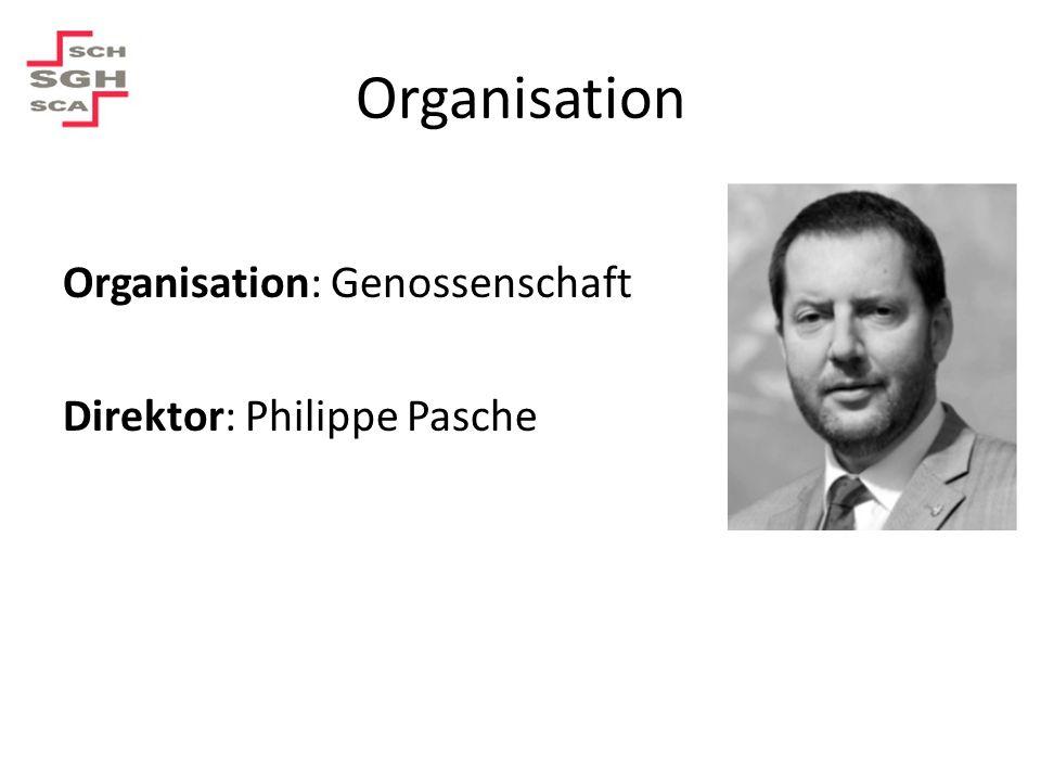 Organisation Organisation: Genossenschaft Direktor: Philippe Pasche