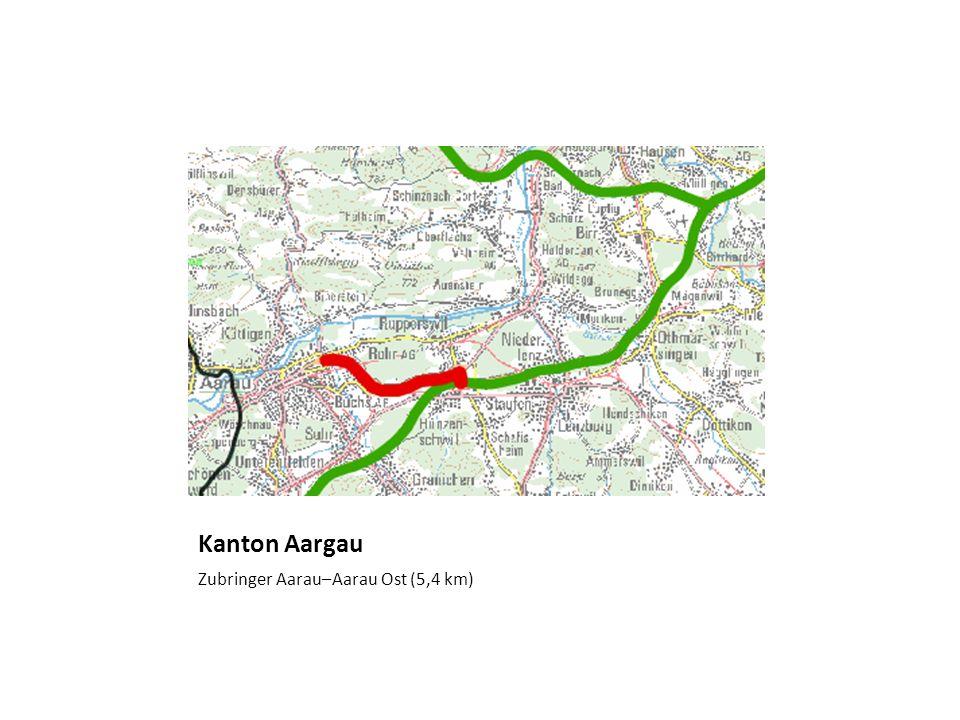 Kanton Aargau Zubringer Aarau–Aarau Ost (5,4 km)